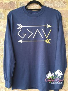 GOD is greater than the highs and lows long by CottonRowDesigns