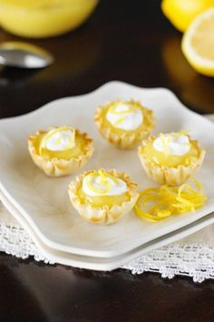 Lemon Curd Tartlets ~ lemon lovers beware, the big lemon punch of these tasty little tarts is impossible to resist. www.thekitchenismyplayground.com