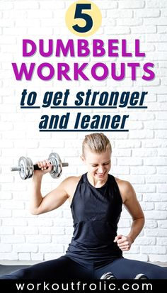 Give any of these 5 dumbbell workouts a try! If you're short on time, these home workouts are for you! Short and effective at-home dumbbell workouts for women! #dumbbellworkout #homeworkout #strengthtraining #hiit Dumbbell Workout At Home, Dumbbell Set, At Home Workouts, Functional Workouts, Strength Training, Hiit, Fit Women, Tank Man, Lose Weight