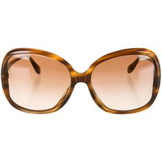 Pre-owned Oliver Peoples Sunglasses (345 BRL) ❤ liked on Polyvore featuring accessories, eyewear, sunglasses, brown, tortoise shell glasses, oliver peoples glasses, oliver peoples sunglasses, brown glasses and tortoise glasses