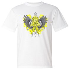 Make a strong impression for Endometriosis Awareness with our stand-out tattoo style design on shirts #Endometriosisawareness #Endometriosisribbon #Endometriosistshirts