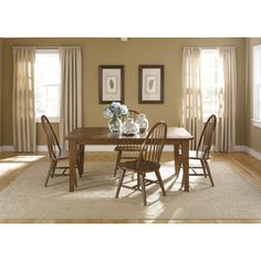 Liberty Hearthstone Traditional Rustic 5-piece Dinette Set
