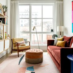Inside a Brooklyn Apartment That Mixes Classic Antiques With Whimsical Finds Small Space Living, Small Spaces, Living Spaces, Living Rooms, Living Area, Apartment Design, Apartment Living, Apartment Layout, Apartment Interior