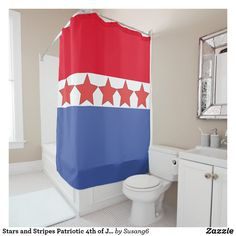 4th Of July Shower Curtain Happy National Day Liberty Freedom