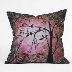 DENY Designs Madart Inc. Cherry Blossoms Throw Pillow, 20 x 20  Cherry blossom décor is a great way to life, beauty and peace to your home.  You can find all kinds of cherry blossom decorating ideas by looking at cherry blossom wall art, cherry blossom accent pillows and other cherry blossom decorative accents.  Effortlessly use this type of décor in your bedroom, living room and bathroom and perhaps gain some inspiration from it to spruce up areas of your home.