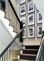 Stairwell Photo Decor - clean and interior design 2012 design ideas home design design house design Inspiration Wand, Decoration Inspiration, Decor Ideas, Hallway Inspiration, 31 Ideas, Creative Ideas, Design Inspiration, Stairway Photos, Wall Photos