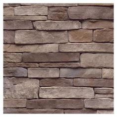 Ledgestone flats at Lowes... $66.47 for 9 square feet. Time to tackle the fireplace.@ shannon Choklad Brick And Stone, Faux Stone, Exterior Paint, Exterior Design, Exterior Colors, House Foundation, Stone Crafts, Stone Veneer, House Wall