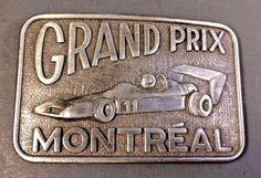Vintage Formula One Racing Montreal Grand Prix Canada Steel Belt Buckle #CenturyCanada