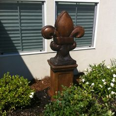 Just Purchased A BIG Fleur De Li Statue For The Front Yard After Pulling Up  Everything