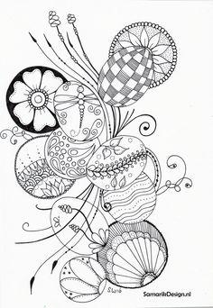 Pasen paaseieren doodle