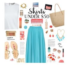 """Skirts Under $50 Contest"" by jafashions ❤ liked on Polyvore featuring Canvas by Lands' End, Target, Lilly Pulitzer, H&M, Liz Claiborne, Karen Kane, Henri Bendel, NARS Cosmetics, Trish McEvoy and Kate Spade"