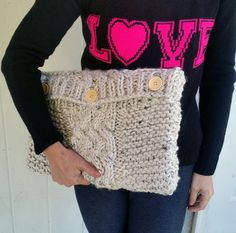 Knit Laptop Sleeve  Knitted Laptop Cover With by SageInkPrintables
