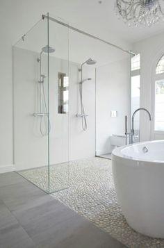 Fuck Yeah Interior Designs Ideas Baños, Indian Bathroom, White Bathroom, Master Bathroom, White Shower, Modern Bathroom, Bathroom Designs, Bathroom Interior Design, Shower Designs