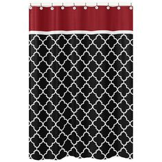 Sweet Jojo Designs Red/ Black Trellis Shower Curtain | Overstock™ Shopping    Great Deals