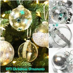 DIY: Ideas to Decorate Clear Ornaments by Michelle's Party Plan-It on Creative Juice