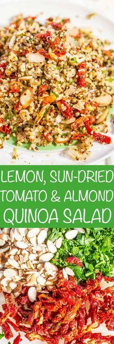 Lemon, Sun-Dried Tomato, and Almond Quinoa Salad