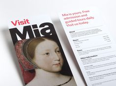 Rack card with visitor information.