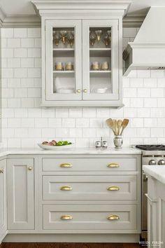 two tone kitchen cabinets, two tone kitchen cabinets white and grey, two tone ki. two tone kitchen Two Tone Kitchen Cabinets, Kitchen Cabinet Hardware, Grey Cabinets, Kitchen Cabinet Design, Painting Kitchen Cabinets, Brass Hardware, Custom Cabinets, Brass Kitchen, Kitchen Grey
