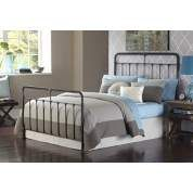 Fairfield Dark Roast Contemporary Metal Queen Bed