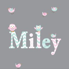 Childrens Name Wall Decal Girls Name Vinyl-Wall by Modernwalls