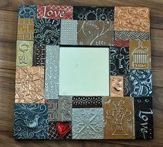 Tile Art, Mosaic Art, Mosaic Tiles, Mosaics, Copper Artwork, Recycled Metal Art, Vintage Halloween Decorations, Atc Cards, Book Folding