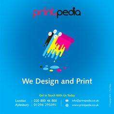 Printpedia specialises in customised design, branding and printing services in Aylesbury, Buckinghamshire and the rest of the UK. Compliment Slip, Milton Keynes, Logo Design, Graphic Design, Watford, Marlow, Creative Logo, Leeds, Printing Services