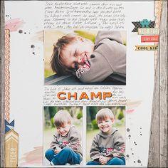 Inspirationsgalerie Layout Werkstatt / Scrapbook Werkstatt / Layout nach einem selbsterstellten Sketch von Birgit Krasenbrink