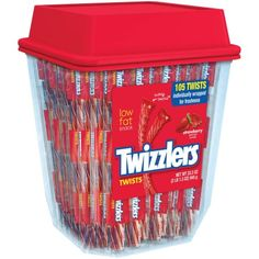 Free 2-day shipping on qualified orders over $35. Buy Twizzlers Strawberry Twizzlers Licorice, Individually Wrapped, 2lb Tub at Walmart.com