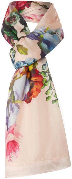 Love this: Oil Painting Long Split Scarf TED BAKER dressmesweetiedarling