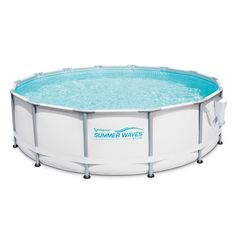"""Free 2-day shipping. Buy Summer Waves Elite 14' x 42"""" Premium Frame Above Ground Swimming Pool with Filter Pump System And Deluxe Accessory Set at Walmart.com"""