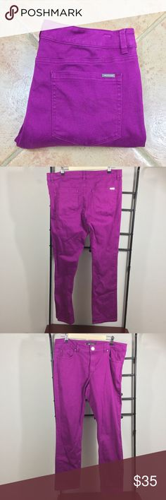 """💜WHBM Purple Skinny Ankle Jeans💜 Very Flattering with the perfect amount of Lycra to pull things together and stretch! Cotton-92% Elastane-6% Lycra-2% Approximate Measurements: Waist-36"""" Hip-42"""" Front Rise-10"""" Back Rise-15"""" Inseam-30"""" White House Black Market Jeans Skinny"""