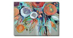 A vibrant floral still life by artist Erin Gregory, rendered in expressive color and bold brushwork. This is a fine print of the original, set on gallery-wrapped canvas and ready to hang.Since...