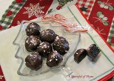 Chocolate Peppermint Truffles - A Spoonful of Thyme