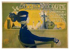 MANUEL ORAZI (1860-1934) LA MAISON MODERNE. 1900. 32 1/4x46 inches. J. Minot, Paris. B