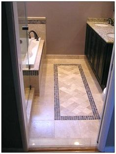 Very nice bathroom tile - extra work but definitely worth it as an upgrade.