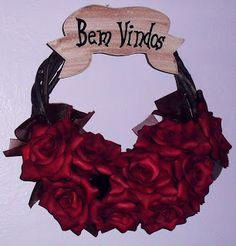 Wreaths  Bem-Vindos  Guirlanda de Rosas  Simone Uller Rosas Artesanais
