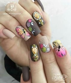 Mani Pedi, Manicure And Pedicure, Love Nails, Pretty Nails, Nail Time, Unicorn Nails, Glam Nails, Beautiful Nail Designs, Square Nails