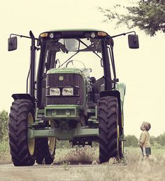 boys and their tractors