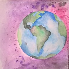 Earth/Galaxy Watercolor Credit: Jessika Jones