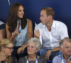 Pin for Later: 19 Times the Duke and Duchess of Cambridge Showed Love During Sporting Events  The pair got a little goofy during a hot day at the Commonwealth Games in July 2014.