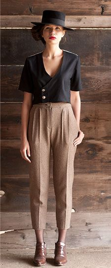 Stealing this look when it finally cools off down here. First Right Clothing, Fall 2012. #autumn #fashion