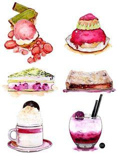 #SweetnessIllustrations #SweetiesIllustrations #DessertIllustrations…