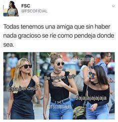 Read jajaja amiga from the story imagenes la reina by (Samantha Reyes) with 178 reads. Funny Spanish Memes, Spanish Humor, Funny Images, Funny Pictures, Crazy Friends, Girl Memes, Bff Quotes, Best Friend Goals, Best Friends Forever
