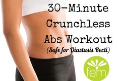 Try these safe exercises for diastasis recti... FREE 30-minute workout (video) included!