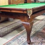 8ft Geo. Bussey Cabriole Leg antique snooker dining table | Browns Antiques Billiards and Interiors.