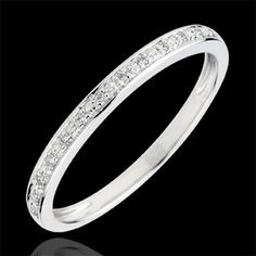 Alliance Eclats de diamant – Weißgold und Diamanten (Trauringe): Juwelen … A… – Alliance – Alliance Mariage Wedding Ring For Him, Diamond Wedding Rings, Diamond Rings, Wedding Bands, Band Engagement Ring, Ring Verlobung, Gifts For Women, White Gold, Bling
