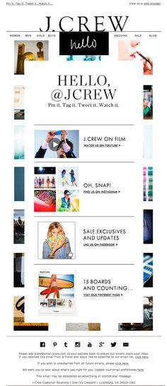 J. Crew | welcome | WelcomeEmails | emailmarketing | email | newsletter | welcome newsletter | welcome email | WelcomeEmail | relationship emails | emailDesign