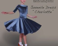 Juvenile Ballroom Dancing Dress Scarlett by DinasDresses on Etsy