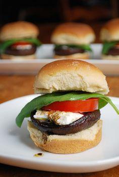 Balsamic Portabello Sliders.  Those look insanely good. #vegetarian #meatless #sliders