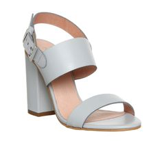 Buy Grey Leather Office Garland Strappy Block Heels from OFFICE.co.uk.